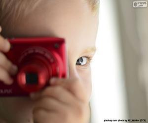 Puzzle Enfant avec l'appareil-photo