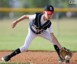 Puzzle Enfant jouant a baseball