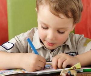 Puzzle Enfant peinture