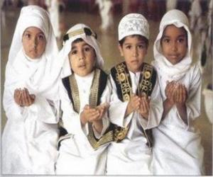 Puzzle Enfants faisant Du'a, une supplication à l'islam