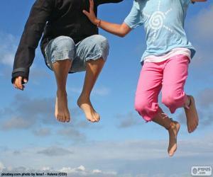 Puzzle Enfants sautant
