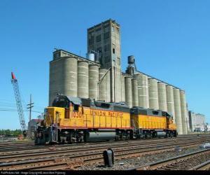 Puzzle Entrepôt de grains, un grand bâtiment pour le stockage du grain