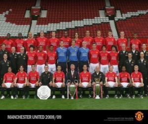 Puzzle Équipe de Manchester United F.C. 2008-09