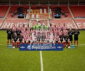Puzzle Équipe de Sunderland A.F.C. 2008-09