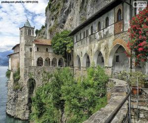 Puzzle Ermitage de Santa Caterina del Sasso, Italie