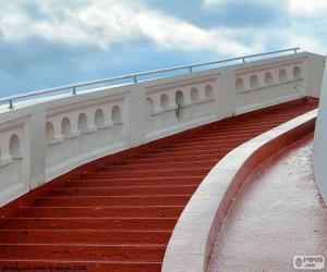 Puzzle Escalier rouge