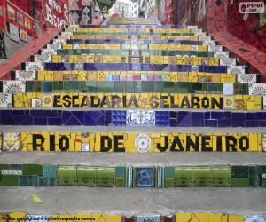 Puzzle Escalier Selarón, Brésil