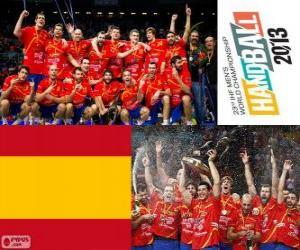 Puzzle España médaille d'or du Monde de Handball 2013