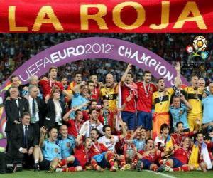 Puzzle Espagne,  champion UEFA EURO 2012