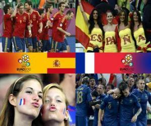 Puzzle Espagne - France, quart de finale, Euro 2012