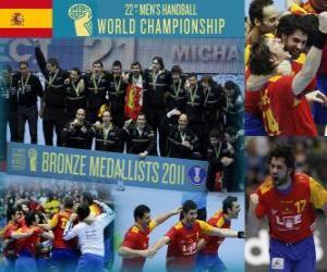 Puzzle Espagne Médaille de bronze au Mondial 2011 de handball