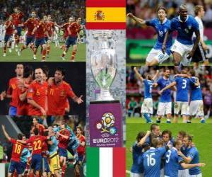 Puzzle Espagne vs Italie. Final Euro 2012