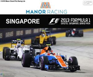 Puzzle Esteban Ocon, GP Singapour 2016