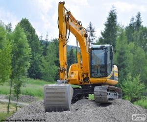 Puzzle Excavatrice jaune