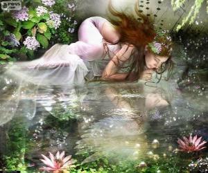 Puzzle Fée Ondina, sont des nymphes aquatiques d'une beauté spectaculaire