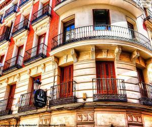 Puzzle Facade immeuble de Madrid