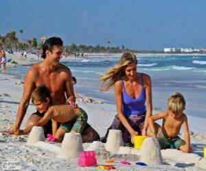 Puzzle Famille à la plage