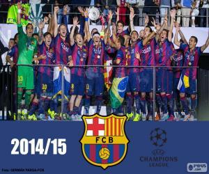 Puzzle FC Barcelona champion Champions15