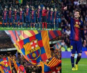 Puzzle FC Barcelone, champion 2012-2013