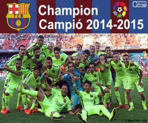 Puzzle FC Barcelone, champion 2014-2015