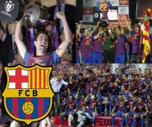 Puzzle F.C Barcelone champion du Copa del Rey 2011-2012