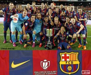 Puzzle FC Barcelone Copa del Rey 14-15