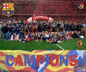 Puzzle FC Barcelone Copa del Rey 2015-16