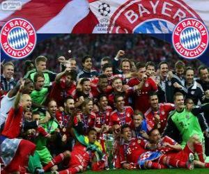 Puzzle FC Bayern Munich, champion de la Ligue des Champions UEFA 2012-2013