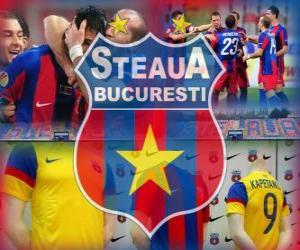 Puzzle FC Steaua Bucarest, club de football roumain