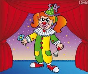 Puzzle Femme clown
