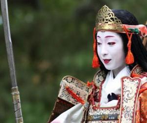 Puzzle Femme samouraï,  femme guerrier avec une katana