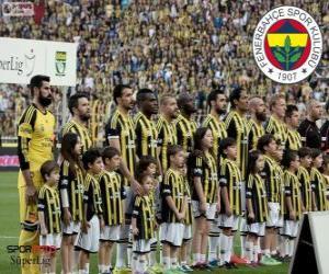 Puzzle Fenerbahçe, champion Super Lig 2013-2014, Ligue de Football de Turquie