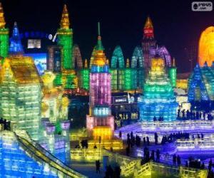 Puzzle Festival de sculptures sur glace et de neige de Harbin, Chine