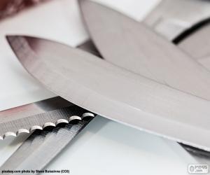 Puzzle Feuilles de couteaux de cuisine