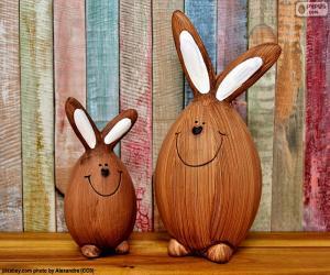 Puzzle Figures de lapins de Pâques