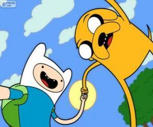 Puzzle Finn et Jake, deux grands amis à Adventure Time