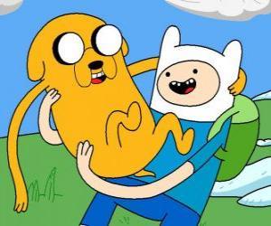 Puzzle Finn et Jake, les principaux protagonistes de la Adventure Time