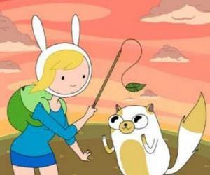 Puzzle Fionna et Cake, deux des personnages du Temps de l'Aventure