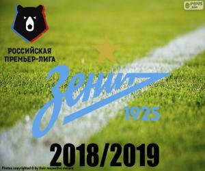 Puzzle FK Zenit, champion 2018-2019
