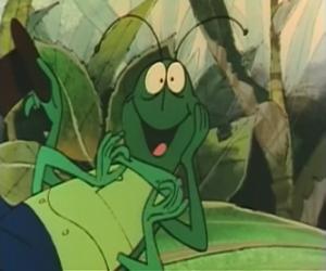 Puzzle Flip est une sauterelle et le protecteur fidèle de Maya.