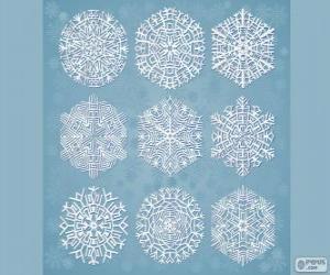 Puzzle Flocons de neige