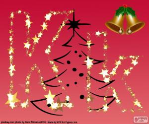 Puzzle Fond de Noël, lettre K