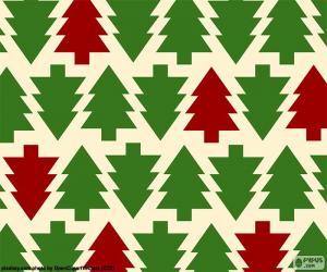 Puzzle Fonds arbres de Noël