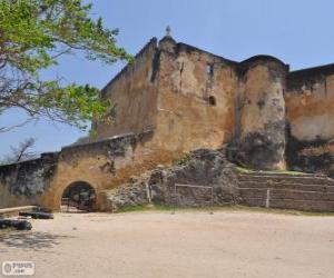 Puzzle Fort Jesus, Fort portugais situé à Mombasa (Kenya)