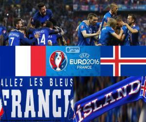 Puzzle FR-IS, quarts de finale Euro 2016