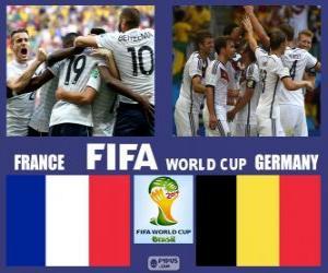Puzzle France - Allemagne, quart de finale, Brésil 2014