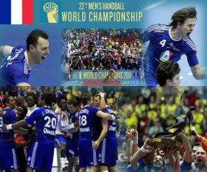 Puzzle France médaille d'or du Monde de Handball 2011