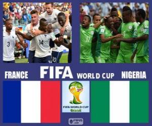 Puzzle France - Nigéria, huitième de finale, Brésil 2014