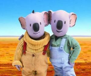 Puzzle Frank et Buster, les frères koala