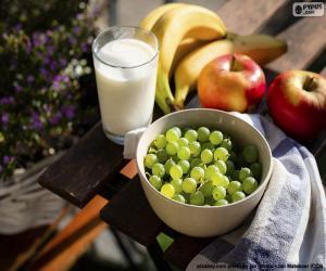 Puzzle Fruits et lait
